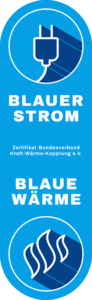 Zertifikat Blauer Strom/Blaue Wärme