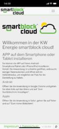 Smartphone: smartblock cloud - Startseite