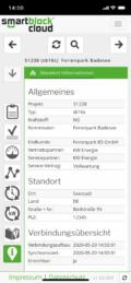 Smartphone: smartblock cloud - Meine BHKW, Informationen